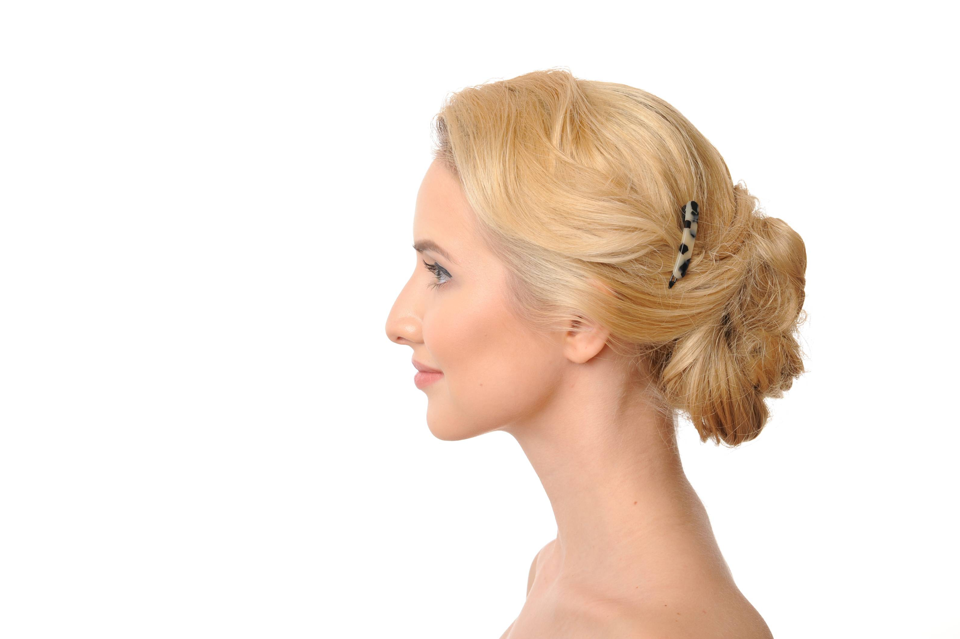 metal free hair clip model