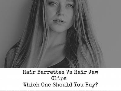 Hair barrettes vs hair jaw clips