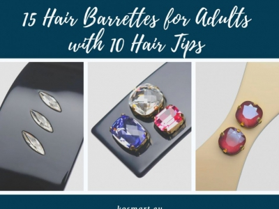 15 Hair Barrettes for Adults with 10 Hair Tips